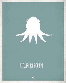 marseille-marseillefaitmaison-faitmaison-expressions marseillaises-parler marseillais-charlotte boronad-dico marseillais-parler-local-provence-assiettes-affiche-figure de poulpe
