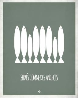 marseille-marseillefaitmaison-faitmaison-expressions marseillaises-parler marseillais-charlotte boronad-dico marseillais-parler-local-provence-assiettes-affiche-serre comme des anchois