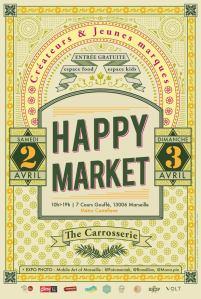 marseillefaitmaison-marseille-happy market- marché de créateurs-made in marseille-made in sud-créateurs-faitmaison-fait main-la carrosserie-affiche
