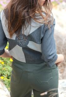 lescigales-marseillefaitmaison-laciotat-boutique-atelier-couture-creatrices-bijoux-broderie-prêt a porter- la ciotat-vêtements-mode-benechap-combinaison-matieres-veste-logo